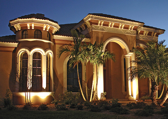 Landscape Lighting In Miami Dade Broward And West Palm Beach Counties Custom Electrical Solutions